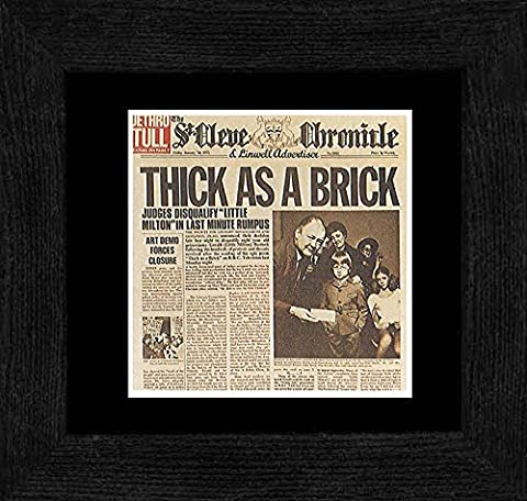 Jethro Tull - Thick As A Brick 1972 Framed Mini Poster - 18x18cm