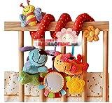 EJY Baby Plüschtiere, Kleinkindspielzeug,Beschwichtigen Schlaf Spielzeug,Kinderwagen, der Spielzeugauto-Drehmaschine hängenden Baby Rasseln