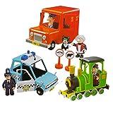 Postman Pat Friction Action 3 Vehicle Playset