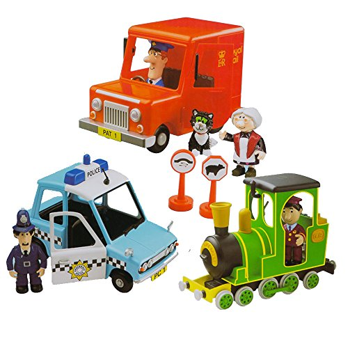 Image of Postman Pat Friction Action 3 Vehicle Playset