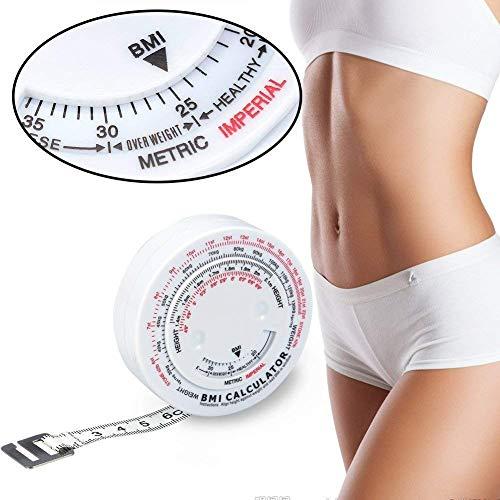 Cintas métricas Índice de masa corporal de belleza Medición de grasa redonda Medida Medida de medición cinta retráctil de cuerpo