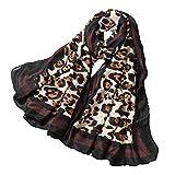 Gestrickter Schal Häkelschal Langer Schal Schals Tücher Halstücher Kopftücher Schals Stolen Umschlagtücher Weben von Schals Bedrucken und Färben Chenang Mode Leopardenmuster Weiche Wrap Schal