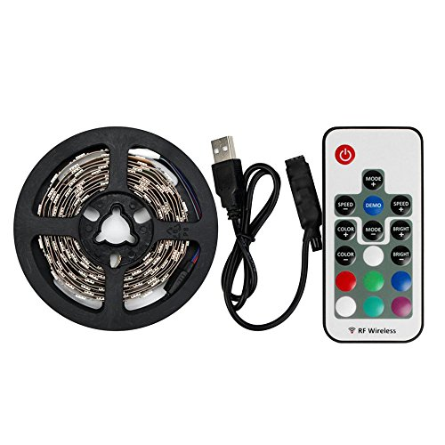 LED TV Backlight,Multi Color USB LED Strip TV Back Lighting Bias lighting Kit Mood Light with Remote Control for Monitor,TV,Desktop,PC50-100 CM (12 000 Halloween-lichter)