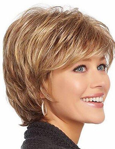 Perruque & xzl Perruques Fashion l'Europe et les États-Unis vendent comme des petits pains avec des perruques de cheveux d'or d'âge moyen et vieux