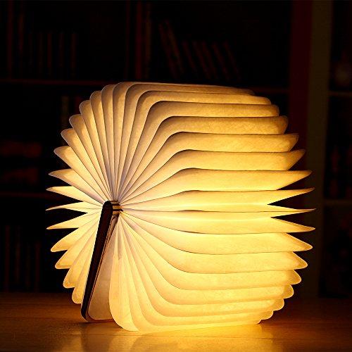 LDAKLE Geschenk USB Wiederaufladbare Faltbare Led Holz Buch Lampe Nachtlicht Schreibtischlampe Für Heimtextilien Magnetschalter Nachtlicht -