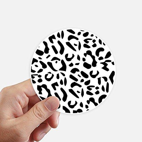 DIYthinker Leopard-Tier-Kunst-Korn-Illustration Muster Runde Sticker 10Cm Wand Koffer Laptop Motobike Aufkleber 8Pcs Diameter 10Cm Mehrfarbig -