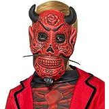 Máscara Infantil Diablo   Antifaz Niño Día de los Muertos   Careta Demonio   Mascarilla Satán Halloween