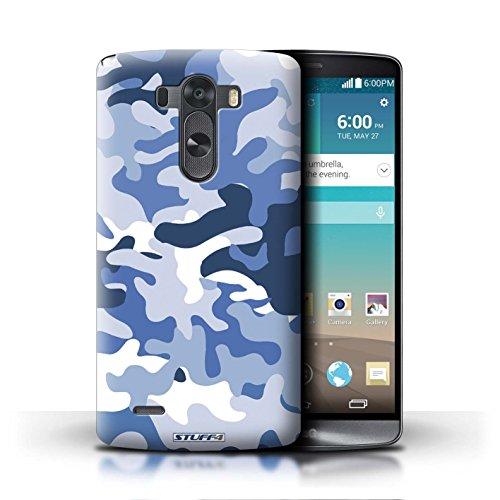 Kobalt® Imprimé Etui / Coque pour LG G3/D850/D855 / Marron 2 conception / Série Armée/Camouflage Bleue 1