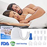 VSADEY Dispositif Anti-Ronflement Efficace Soulagement du Ronflement Naturel Solution de Ronflement pour Aide Sommeil Respiration 8PCS Dilatateur Nasal+1PCS Meilleure Orthèse Anti Ronflement