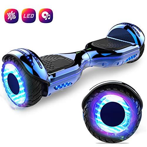 GEEKME Hoverboard auto bilanciamento Scooter elettrico da 6,5 '' per adulti Bambini-UL2272 Altoparlanti Bluetooth certificato 2x350W con LED