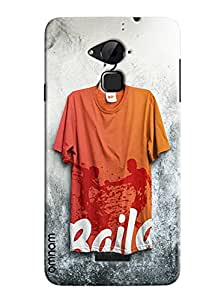 Omnam Tshirt With Baila Printed Hanging On Wall Designer Back Cover Case For Coolpad Note 3