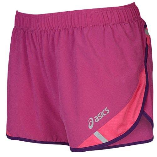 Asics Damen Split-Shorts 7,6 cm, Damen, Wild Aster, Small (Aster Asics Wild)