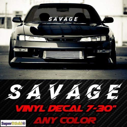 SUPERSTICKI Savage Frontscheibe ca 20cm Aufkleber,Autoaufkleber,Sticker,Decal,Wandtattoo, aus Hochleistungsfolie,UV&waschanlagenfest, -