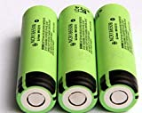 Panasonic NCR18650B 6.7A 3400mAh 18650 Battery (3 Batteries - VIPERTECH Case Included)