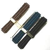 Meaningg Marken der Frauen Männer 25 * 19 21 * 14mm, Schwarz, Blau, Braun, Weiß Silikon-Gummi-Uhrenarmband-Gurt-Armband HUBLOT Big BANG Uhr, Brown Männer Größe, ohne Schnalle