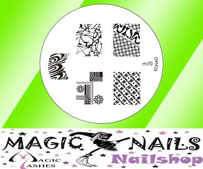 Magic Items Konad stamping pochoir M70 nail art neuf
