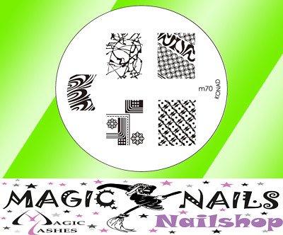 Magic Items Konad stamping pochoir M70 nail art neuf