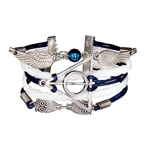 b3db06e6aec5 Infinity-Bijoux-Pulsera-infinito-harry-potter-búho-alas-