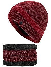 Amazon.es  gorros lana hombre - Set de bufanda d9f6c95fafd