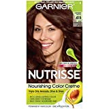 Garnier Nutrisse Haircolor, 415 Raspberry Truffle Soft Mahogany Dark Brown (Haarfarbe)