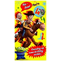 Disney Toy Story Age 4 Happy Birthday Card with Badge 614521