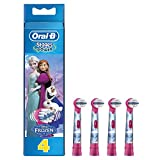 Oral-B Genuine Kids Stages Disney Frozen Replacement Pink Toothbrush Heads, Refills for Electric Toothbrush, Suitable for Children Aged 3-6 Years, Pack of 4