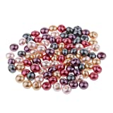 Gazechimp 100stk 7mm Mehrfarbige Acryl Flache Perlen bunte Bastelperlen Craft Perlen