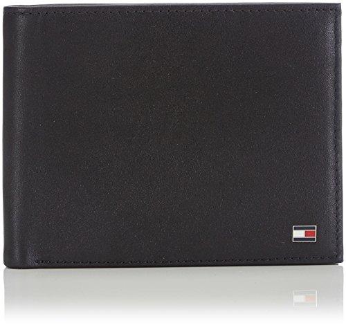 Tommy Hilfiger Eton Trifold Porta Carte di Credito, 75 cm, Nero