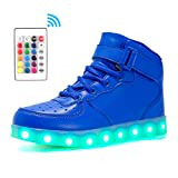 Voovix Kinder High-top LED Licht Blinkt Sneaker mit Fernbedienung-USB...
