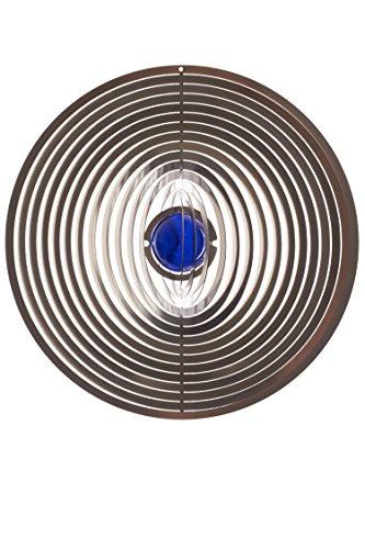 A2003 - steel4you hochwertiges 3D Windspiel aus Edelstahl mit Glasperle - Kreis 15cm x 15cm - made in Germany - 6