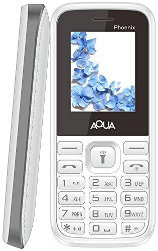 Aqua Phoenix Dual SIM Basic Mobile Phone White+Grey