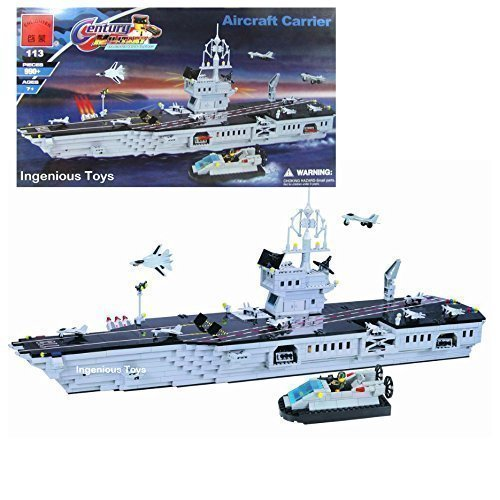 LARGE-Military-Navy-Aircraft-Carrier-Battle-Ship-Gift-Set-Compatible-Bricks-113