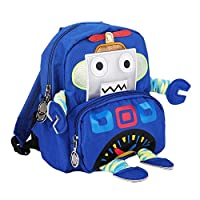 Zerodis. Anti-lost Backpack, Kids Toddler Anti-lost Backpack Schoolbag Kindergarten Satchel with Safety Harness Cartoon Robot Pattern