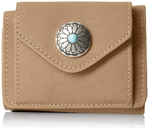 ALTROSE Damen Portemonnaie Concho Button dreifach faltbar Day 160006-08, Beige -