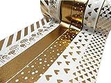 Set von dekorativen Washi-Tape, zum Basteln gold