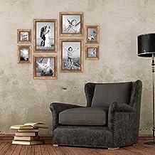 Set de 8 cadres doré baroque antique, respectivement 2 fois 10x10, 10x15, 20x20 et 20x30 cm, incl. accessoires, cadre photo / cadre baroque
