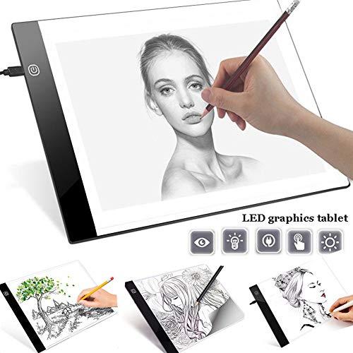 Alivier A4 LED Light Box Tracer Ultra Slim-Zeichenbrett USB-betriebene LED-Copyboards für Das Zeichnen von Künstlern Slim Light Box
