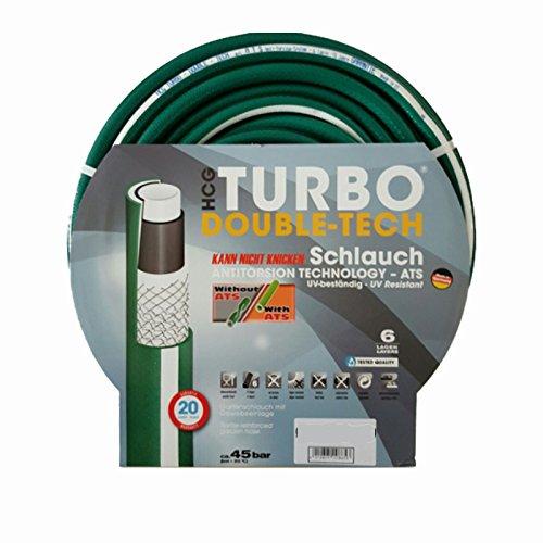 Schlauch24 Premium Profi Gartenschlauch Wasserschlauch Turbo Double-Tech 6 lagig 3/4 Zoll 50m