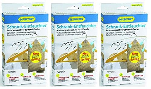 3er Set HUMYDRY 3D Schrankentfeuchter 250g