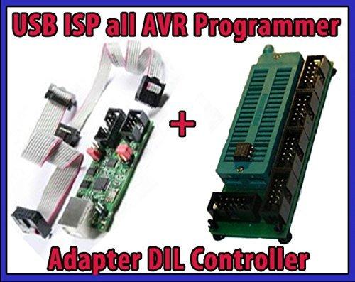 Sparset USB ISP für all AVR Programmer Atmel RISC + Adapter DIL Controller Xmega (Avr 8 Pin)