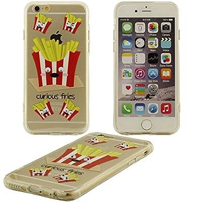 Creative Design curieux frites Motif plastique dur Housse Coque de protection case pour Apple iPhone 6S / 6 4.7 inch (rouge) - (iPhone 6 plus pas jugé)