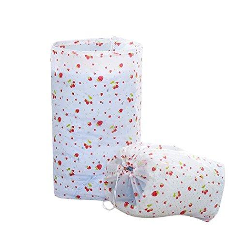 HCFKJ Faltbare Lagerung Kordelzug Kleidung Decke Quilt Closet Pullover Veranstalter Tasche (D) (Kordelzug Veranstalter)