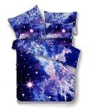 3d Bettwäsche Set einzel doppel 3pcs / 4pcs betten mit bettwäsche wird universum all stars quilt betten setzen-P-1 Bettbezug 160 x 210 cm und Tagesdecke 180 x 230 cm und 1 Kissenbezug für Kissen 48 x 74 cm