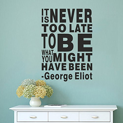 george-eliot-sticker-mural-citation-its-never-too-late-to-be-qui-pourraient-vous-ont-ete-anglais-let
