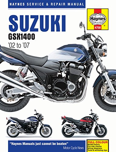 Haynes Manual Suzuki GSX1400 K2-K8 02-08 (Each)