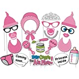 Veewon 22 Stück Babyparty Foto Props Party Baby Flaschen Masken Photo Booth Props Neugeborene Dame Girl Partydekoration