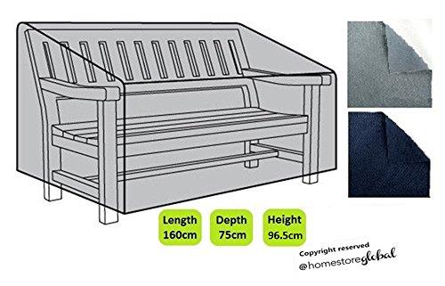 HomeStore Global groß Schutzhülle für Gartenbank (mit Rechten Armlehnen) – Dicke & Hochwertiges strapazierfähiges 600D Polyester Canvas mit Doppel genähte Nähte für extra...