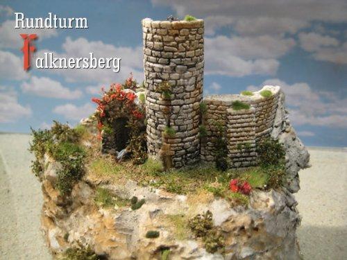 Rundturm Falknersberg, Bausatz, Spur N / Z (Modelleisenbahn Spur N)