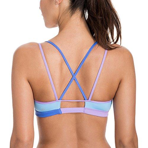 CRZ YOGA Femme Soutien-Gorge de Sport Yoga Bandeau Paddé Sans Armatures Multicolore #10