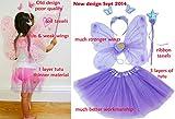 Fun Play Fee Kostüm - schmetterlingsfee Flügel, Tutu, Zauberstab und Stirnband Gesetzt Lila Test